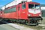 """LEW 15758 - DB AG """"155 061-5"""" 01.02.1998 - Mannheim, BetriebswerkErnst Lauer"""