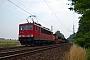 """LEW 16110 - DB Schenker """"155 034-2"""" 04.07.2009 - Belzig-BorneRudi Lautenbach"""