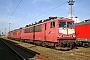 """LEW 16335 - Railion """"155 075-5"""" 29.10.2005 - Rostock-Seehafen, BetriebswerkPeter Wegner"""
