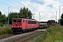 """LEW 16456 - DB Schenker """"155 110-0"""" 10.08.2013 - SildemowAndreas Görs"""
