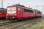 """LEW 16459 - Railion """"155 113-4"""" 29.02.2004 - Halle (Saale), Betriebswerk GStefan Sachs"""