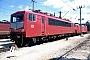 """LEW 17199 - DB AG """"155 243-9"""" 21.07.1996 - Mannheim, BetriebswerkErnst Lauer"""