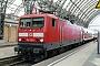"""LEW 21313 - DB Regio """"114 020-1"""" 19.08.2009 - Dresden, HauptbahnhofJörn Pachl"""